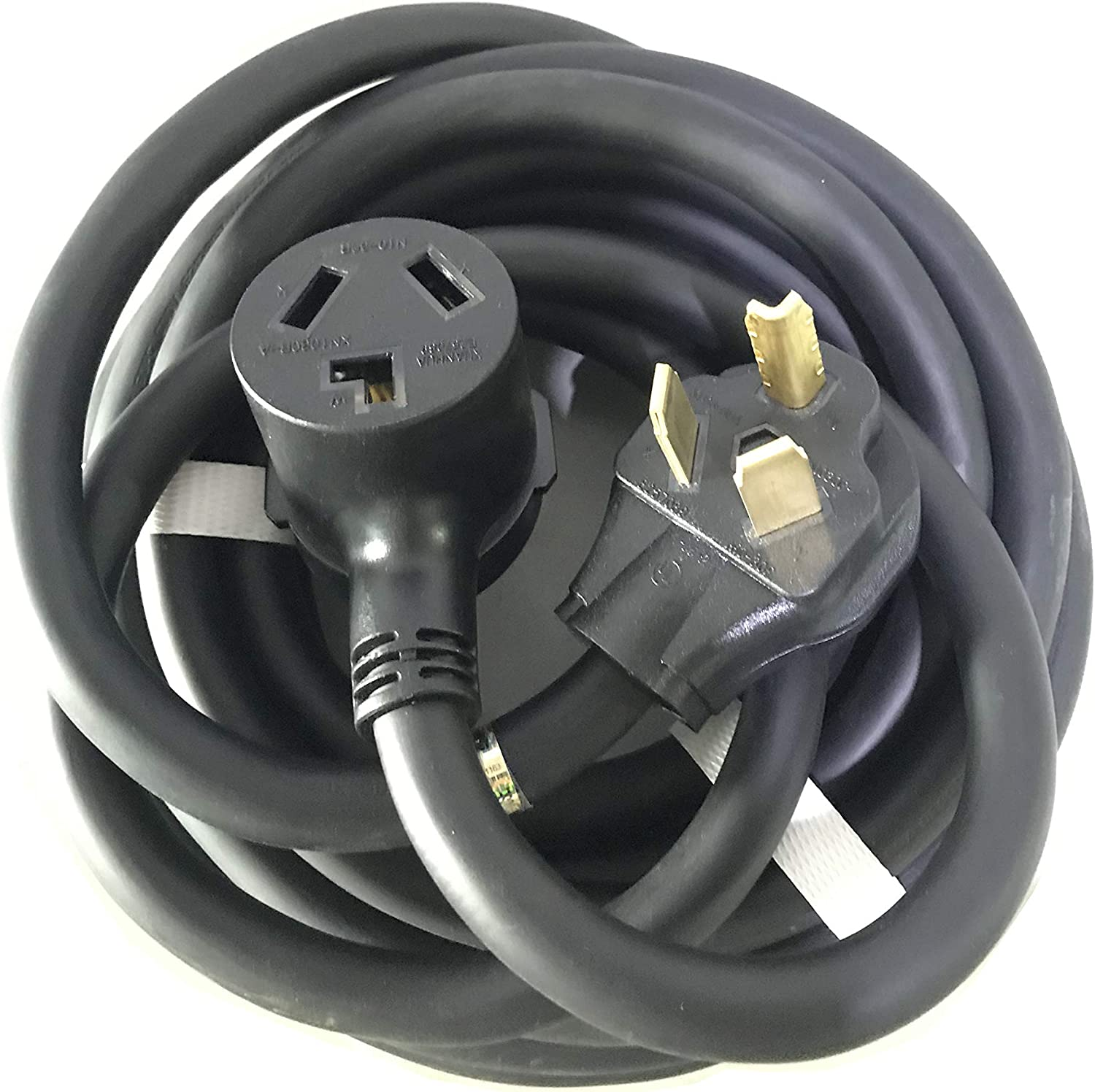 16ft 5in, 30A, 125//250 VAC or RV uses Durable casing and 10 AWG Wire for Dryer EV Safety Certified Splitvolt EGB 11-016: 100/% Copper NEMA 10-30P to 10-30R Extension Cable