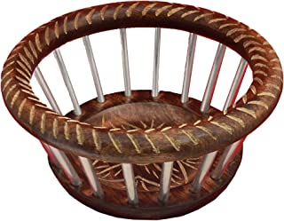 Diwali Special Fruit Bowl Basket for Kitchen Dining Table Decor Handmade Wooden Container Countertop Centerpiece Bowl Office Party Living Room Decorations 9.5 Inch By Etroves