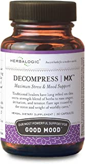 Herbalogic - Decompress MX Herb Capsules - Maximum Stress & Tension Relief - Reduces Anger & Moodiness, Positive Mood Supp...