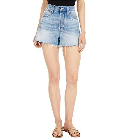 Madewell Relaxed Denim Shorts in Rosemount Wash: Destroyed Hem Edition