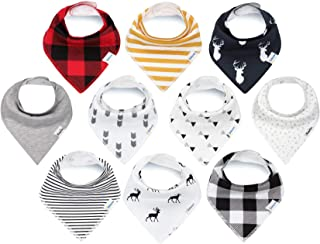 KiddyStar Bandana Baby Bib Set, Drool Bibs for Boys and Girls, for Newborns, Organic Cotton, Soft and Absorbent, Stylish a...