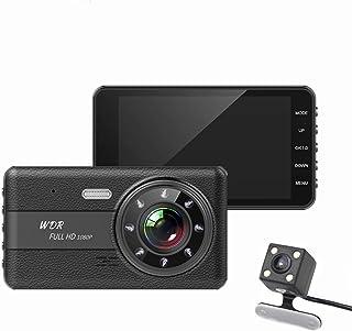 ziqiangnongye ドライブレコーダー 2カメラ前後搭載 暗視カメラ リアカメラ 防水 バックカメラ170度広角レンズ 4.0インチ液晶 高画質 駐車監視 常時録画