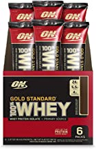 Optimum Nutrition Gold Standard 100% Whey Protein Powder Individual Stick Packs, Double Rich Chocolate, 6 Count