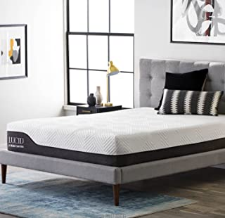 LUCID 12 Inch California King Hybrid Mattress - Bamboo Charcoal and Aloe Vera Infused Memory Foam