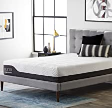 LUCID 12 Inch Hybrid Mattress - Bamboo Charcoal and Aloe Vera Infused Memory Foam - Motion Isolating Springs, Queen