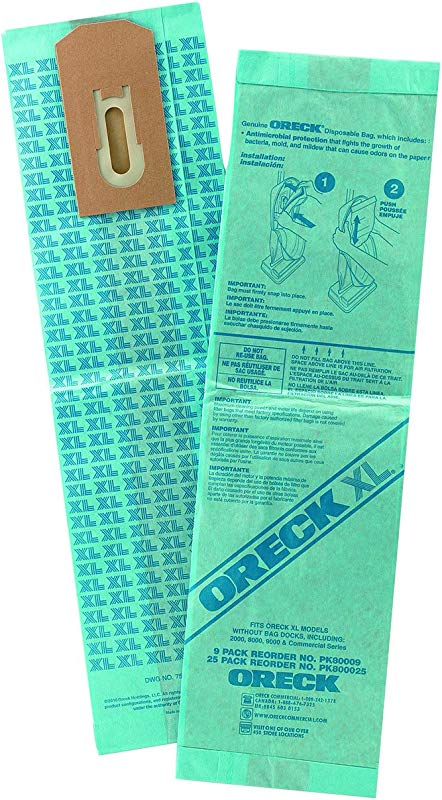 Oreck Commercial PK800025 Upright Vacuum Disposable Bag For Upright Vacuum