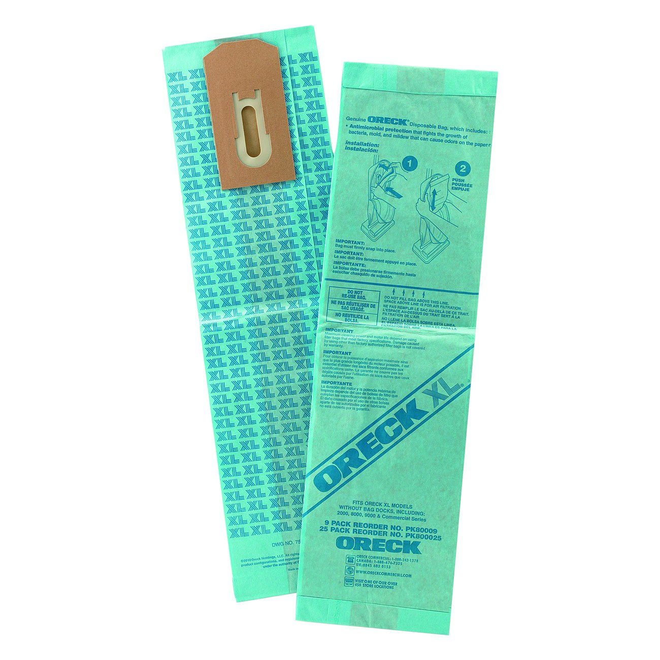 Oreck Commercial PK800025 Upright Disposable