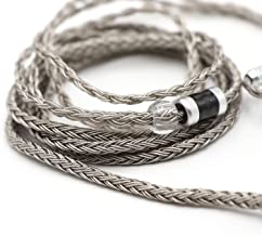 Linsoul Tripowin Zonie 16 Core Silver Plated Cable SPC Earphone Cable for BL03 TRN V90 V80 AS10 ZS10 ZS6 ES4 ZST ZSR iems (2pin 0.78-3.5mm, Grey)