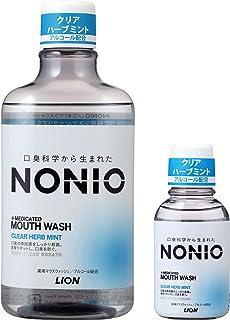 NONIO(ノニオ) [医薬部外品] マウスウォッシュ クリアハーブミント 洗口液 600ml +ミニリンス80ml