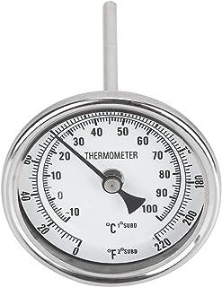 Zerodis 1/2 NPT Température de l'eau, Filetage en Acier Inoxydable Bouilloire Homebrew 0‑220 ℉/‑10‑100 ℃