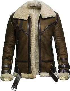 Biker Motorcyle véritable peau lainee Distressed Marron Vestes en cuir pour homme