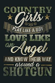 Country Camo Girls Love Like An Angel Distressed: Notebook Planner -6x9 inch Daily Planner Journal, To Do List Notebook, D...
