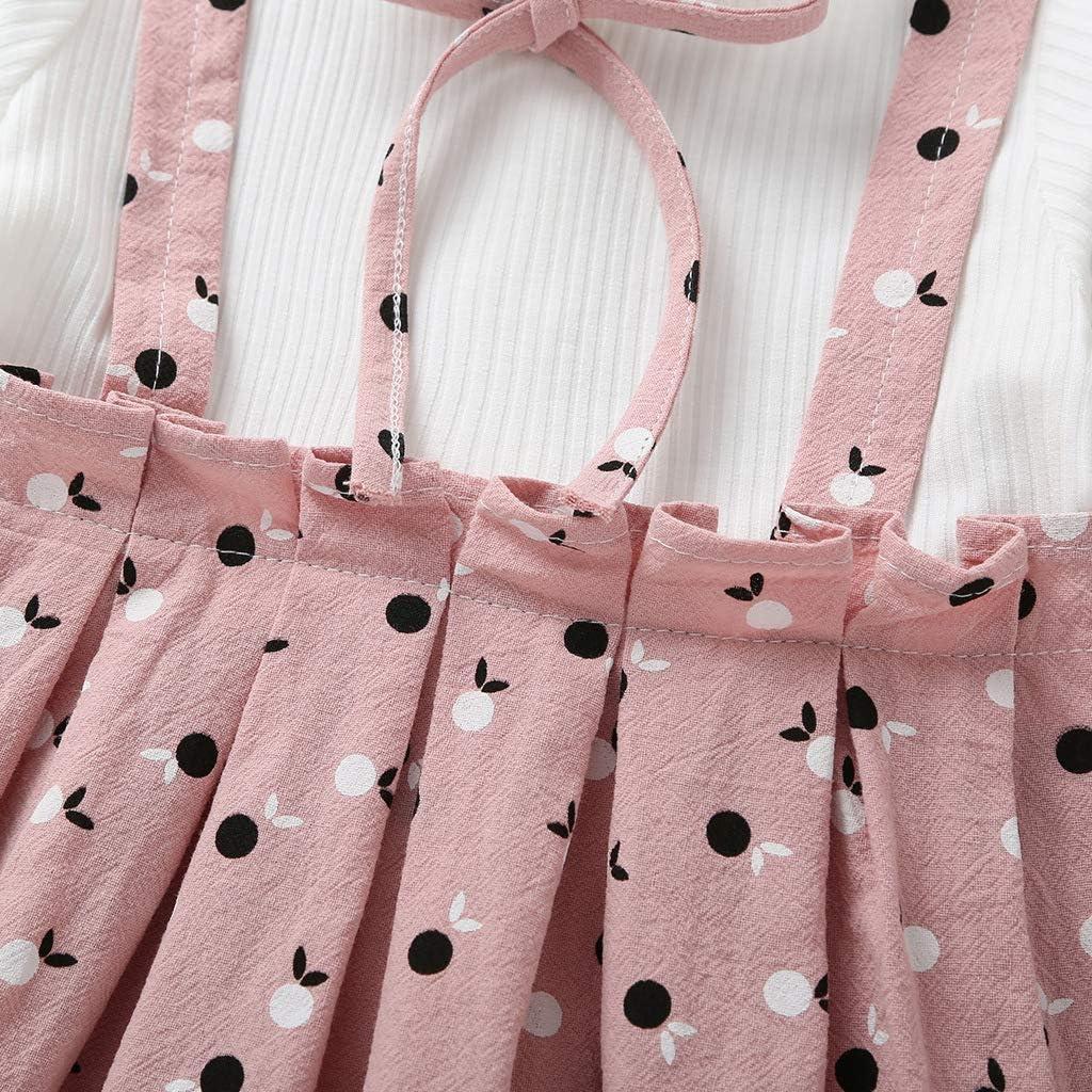 Gonna Xuefoo Set di Abbigliamento Stampato Fulvo neonata Set Completo di Abiti da Bambina a Maniche Lunghe