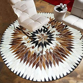 Rug Carpet Cushion Round Luxury Villa Living Room Horse Horse Continental Splicing Bedroom Carpet ( Size : 100*100cm )