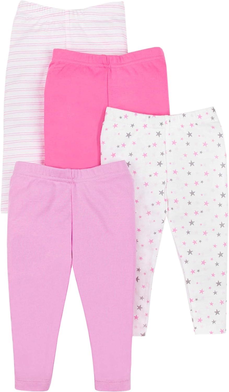 Lamaze Baby Girls Organic 4 Pack Pants