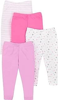 Lamaze Organic Baby Girls Lamaze Baby Organic 4 Pack Pants, Pink, 6 Months