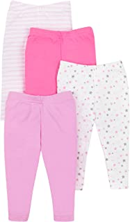 Lamaze Organic Baby Girls Lamaze Baby Organic 4 Pack Pants,  Pink,  Newborn
