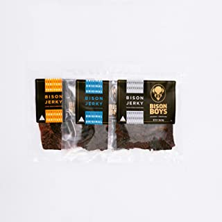Bison Boys | Buffalo Jerky | Preservative Free Bison Meat | USA Raised | Natural Smoke Flavorings | Protein Packed Low Fat...