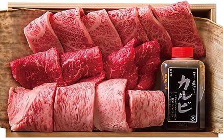 父の日 御祝 焼き肉 手切り セット 常陸牛 A5 焼肉3品盛合せ カルビ サーロイン もも 黒毛和牛