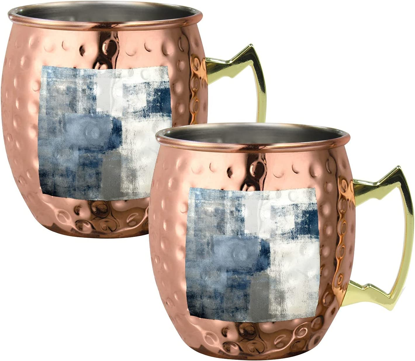 Blue Gray White Ranking outlet TOP11 Abstract Moscow Mule Copper Mugs Stainless Steel