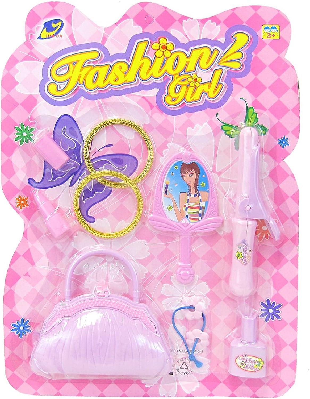 Little Big World Girls Beauty and Fashion Accessory Kit (7-Piece), Purple Pink