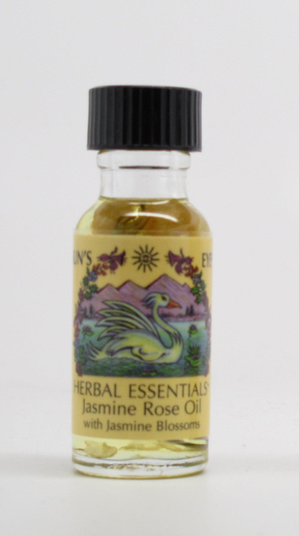 Jasmine Rose - Sun's Eye Herbal Essential Oils - 1/2 Ounce Bottle