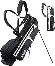 LONGCHAO Golf Bag for Men- Black White Stand Golf Bag Lightweight 4 Way Top - Detachable Cute Backpacks Removable Rain Hood,Hybrid Walking Golf Bag with Stand