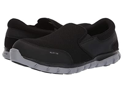 Reebok Work Sublite Cushion Work Alloy Toe EH Slip On (Black) Men
