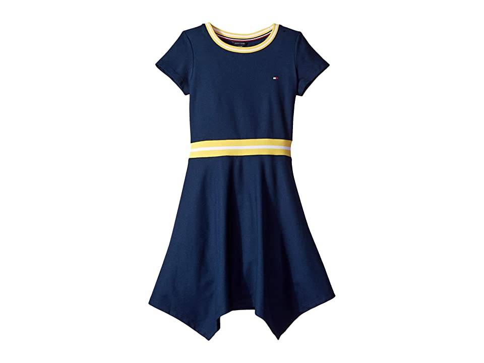 Tommy Hilfiger Kids Solid Pique Dress (Big Kids) (Flag Blue) Girl