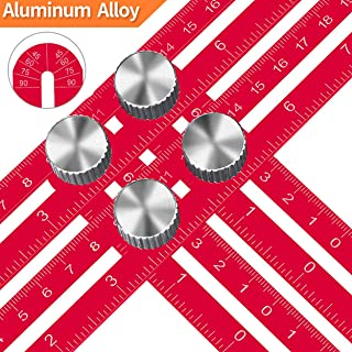 KEGOUU Angle Layout Measuring Ruler/Universal Template Layout Tool - Full Metal Multi Angle Measuring Tool-Upgraded Aluminum Alloy Ruler for Handymen, Builders, Craftsmen, DIY-ers