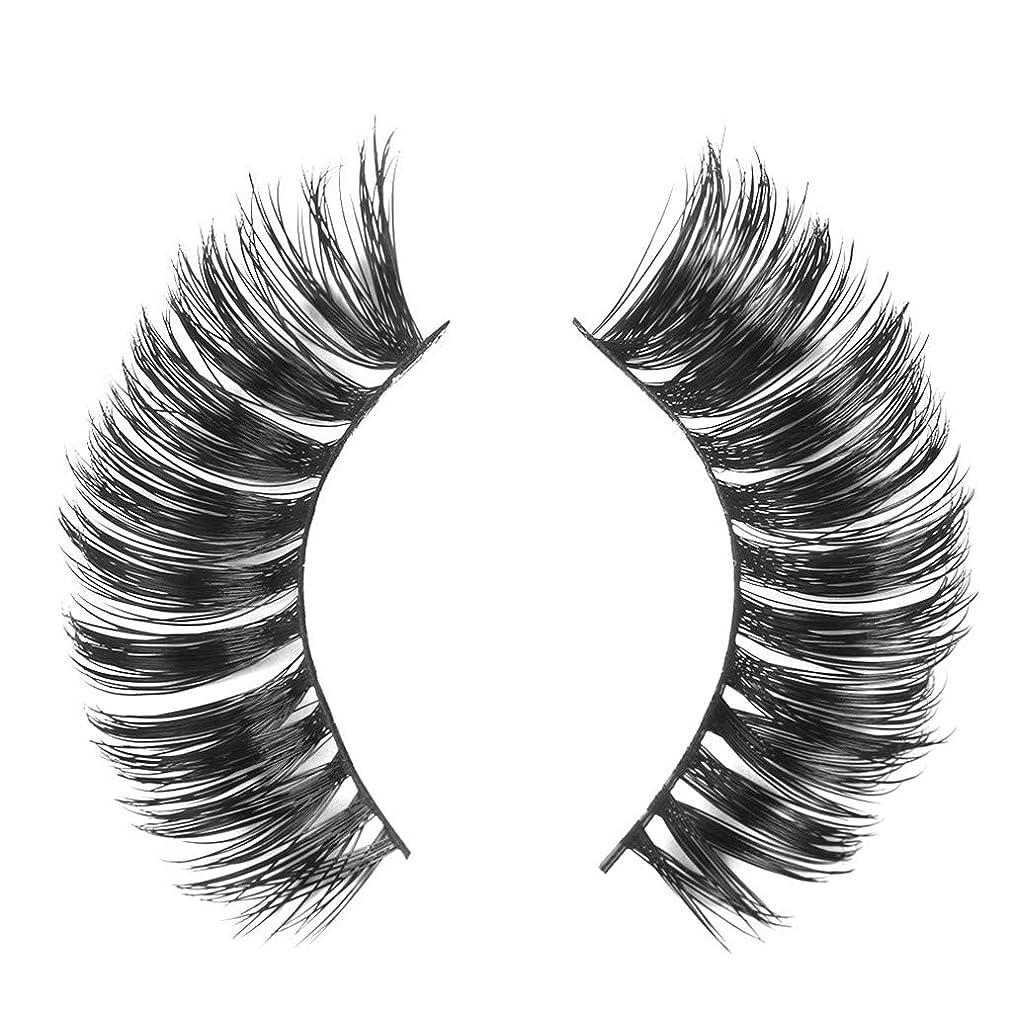トラクター眉をひそめる畝間ミンクの毛の自然な厚くなる化粧品の3D版のための一組のまつげ