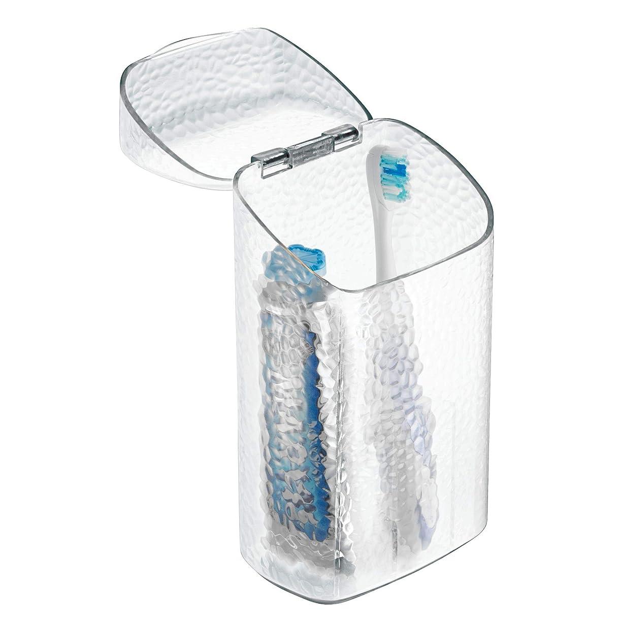 作動する貨物永久InterDesign Rain Dental Center Toothbrush and Toothpaste Holder/Case - Clear by InterDesign