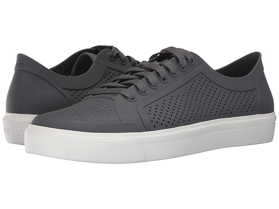 Crocs CitiLane Roka Court (Slate Grey/White) Lace up casual Shoes