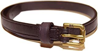 Ralph Lauren Polo Vintage Mens Double Wrap Leather Buckle Bracelet Brown Brass