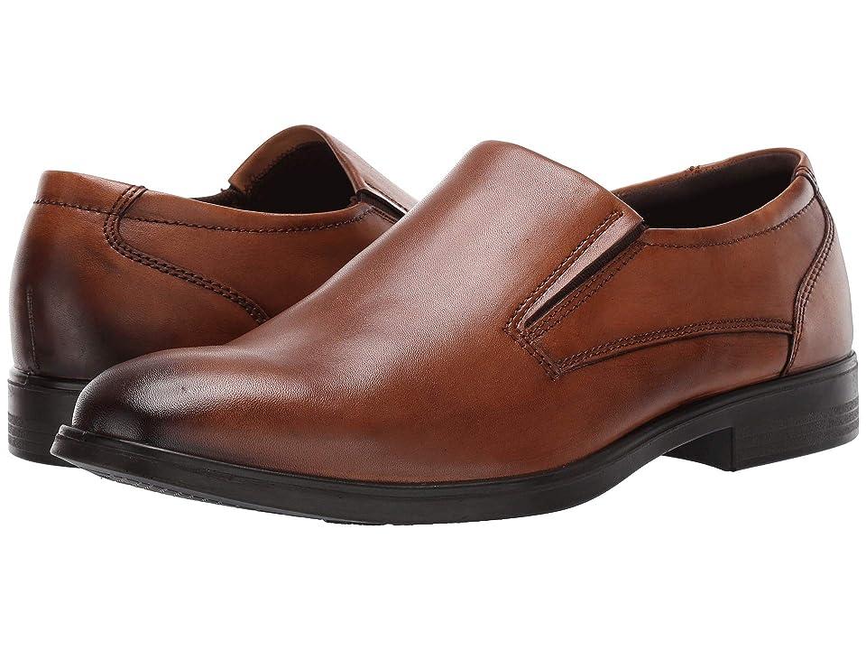 ECCO Melbourne Plain Toe Slip (Amber Full Grain Leather) Men