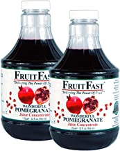 Wonderful Pomegranate Juice Concentrate by FruitFast - Non-GMO Gluten Free 100% Pomegranate Juice (64 Ounce)