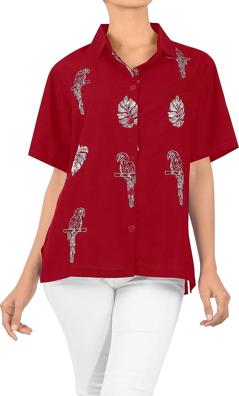 Beach Top Ladies Hawaiian Shirt Blouses Tank Casual Aloha Boho Holiday Printed