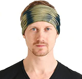 CHARM Womens Bandana Headband Headwrap - Mens Hippy Hair Band Japanese Boho Dread Wrap