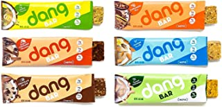 Dang Keto Bar | 6 Flavor Variety | 12 Pack | Keto Certified, Vegan, Low Carb, Low Sugar, Plant Based, Non GMO, Gluten Free Snacks | 4-5g Net Carbs, 9g Protein, No Added Sugars
