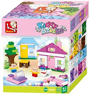 "Sluban Bricks Set ""Basic"" for girls Building Kit (415 Pieces)"