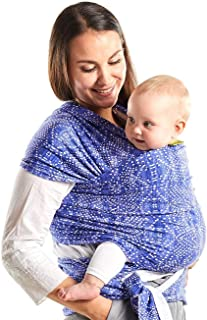 Boba Wrap Baby Carrier, Boho - Original Stretchy Infant Sling, Perfect for Newborn Babies and Children up to 35 lbs