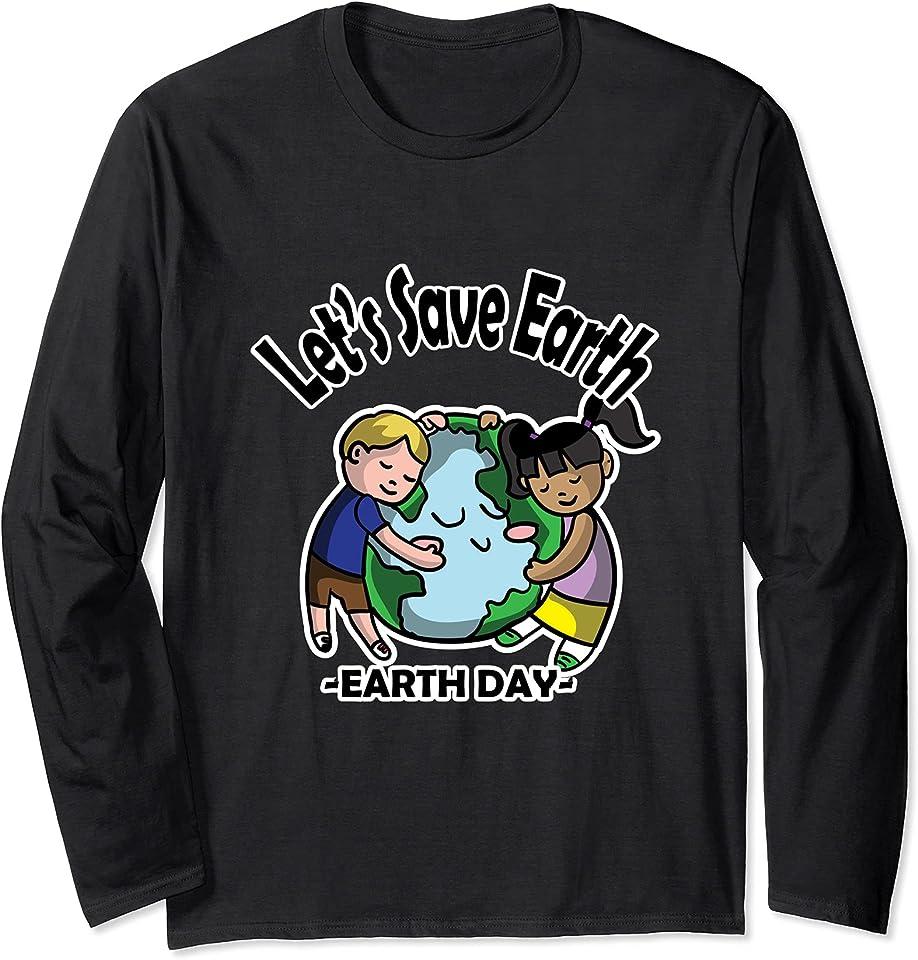 Earth Day Design Langarmshirt