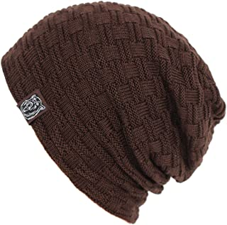 Iuway Stylish Unisex Crochet Slouchy Baggy Crease Winter Knit Beanie Cap Skull Hat