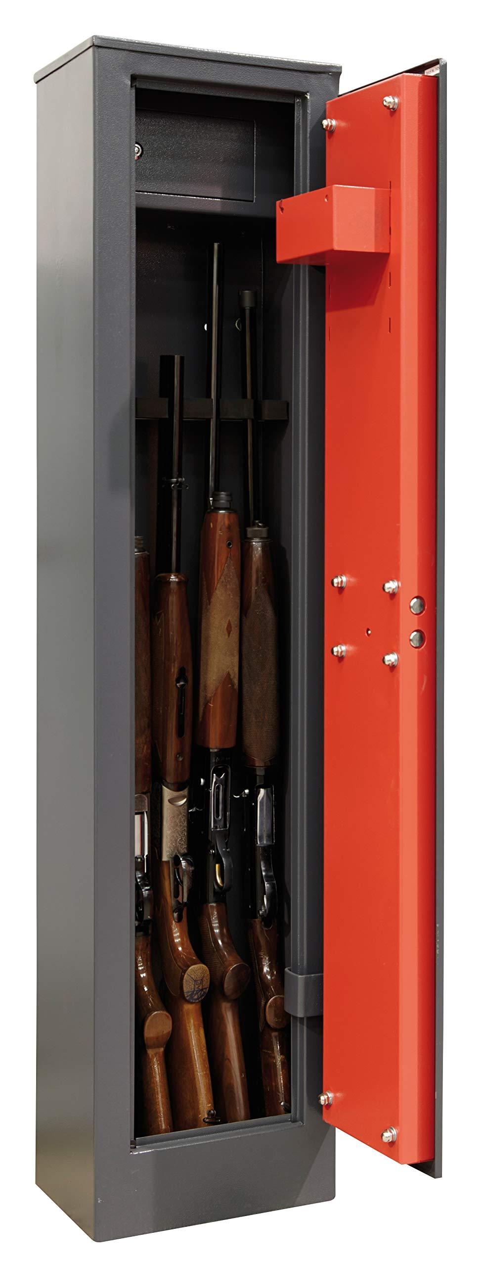 Arregui APF.4KTADV - Armero de arma larga para 5 escopetas, gris oscuro: Amazon.es: Bricolaje y herramientas