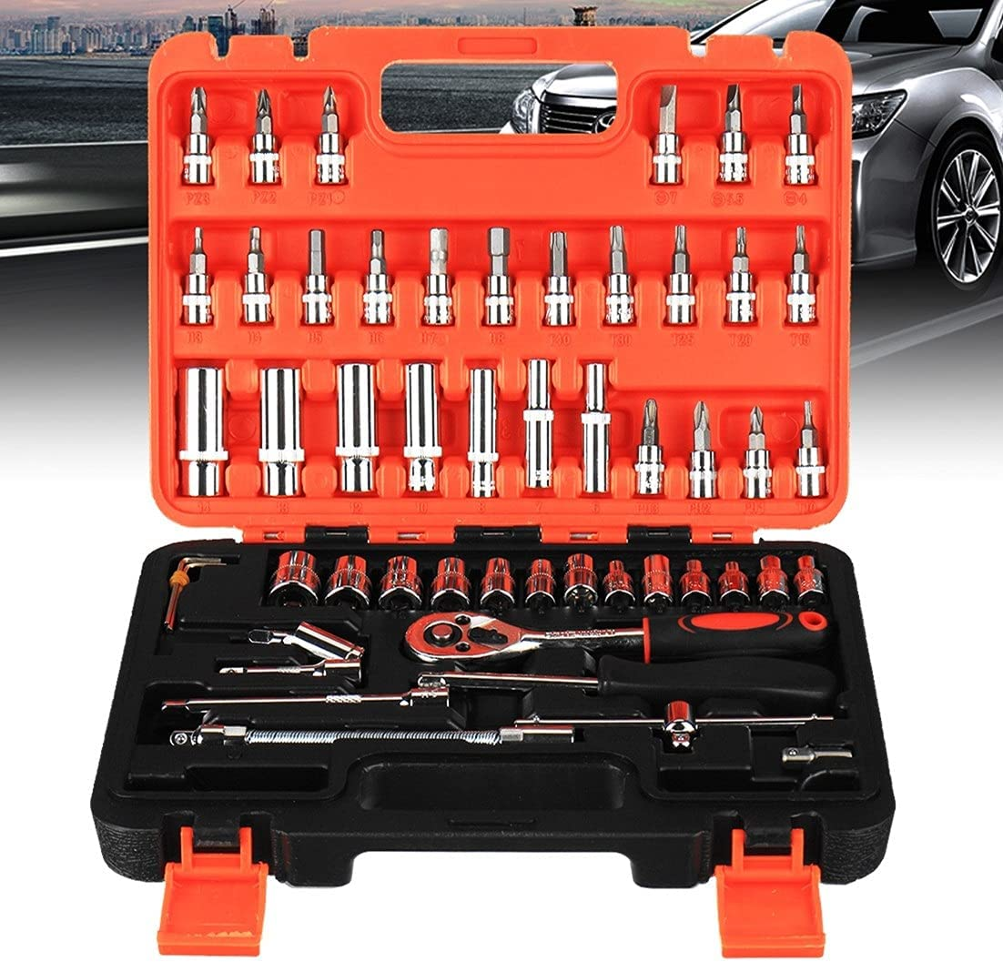 YDSHOLL Mail order Max 77% OFF Car Repair Hand Tool Socket Universal Wrench Rat Set Key