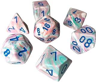 Chessex Festive Polyhedral Pop Art - Blue 7-Die Set
