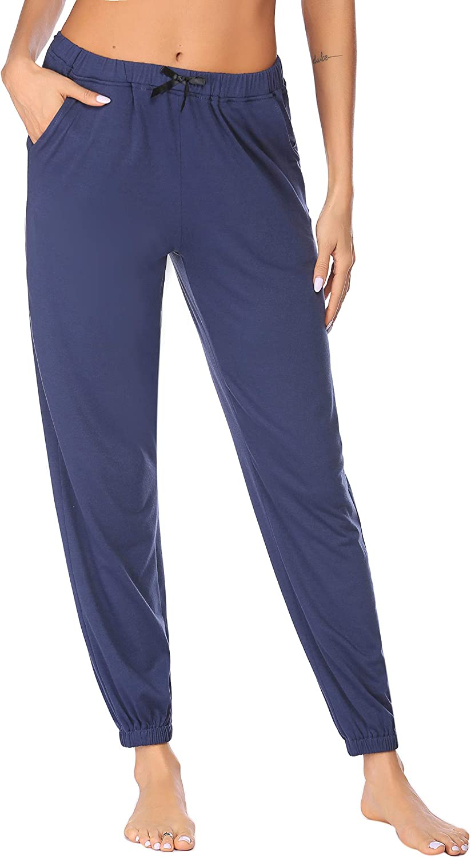 Ekouaer Pajama Pants Womens Soft Pj Bottom Loungewear Long Trousers Pants Casual Bottoms with Pockets Sleepwear