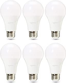 AmazonBasics Commercial Grade LED Light Bulb   100-Watt Equivale, A21, Daylight, Dimmable, 6-Pack