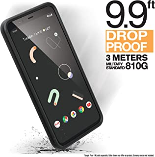 Catalyst - Official Google Pixel 4 Case with Clear Back, Compatible with Active Edge, Heavy Duty 9.9ft Drop Proof, Truss Cushioning System, Compatible with Wireless Charging, Lanyard Included - Black