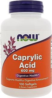 Now Foods Caprylic Acid, 100 SGELS 600 mg (Pack of 4)